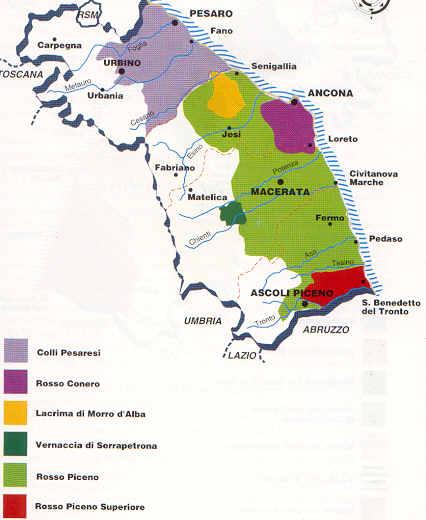 Cartina Litorale Marche.Madavin Sas Marche